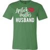 Lipstick Hustler Husband & Lipsense 50 Lip Color Swatches -  (FRONT & BACK) - Bella & Canvas - O-neck Unisex Short Sleeve Jersey Tee - 12 Colors Available Plus Size XS-4XL - MADE IN THE USA