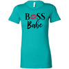 Boss Babe Lips Lipstick Kiss Print - Bella + Canvas - Women's Short Sleeve Feminine T-shirt - 15 Colors Available Plus Size S-2XL - MADE IN THE USA