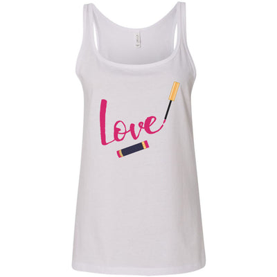 LOVE Lipsense Lip Color Swipe - Ladies Relaxed Jersey Tank Top Women - Bella & Canvas - 7 colors available - PLUS Size S-2XL MADE IN THE USA
