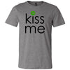 KISS ME - St. Patricks Day green lips - Bella & Canvas - O-neck Unisex Short Sleeve Jersey Tee - 12 Colors Available Plus Size XS-4XL - MADE IN THE USA