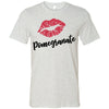 Lipstick Kiss Lips Print - Lipsense: POMEGRANATE - Bella & Canvas - O-neck Unisex Short Sleeve Jersey Tee - 8 Colors Available Plus Size XS-4XL - MADE IN THE USA