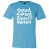 Stressed-Blessed-Lipstick Obsessed - Bella & Canvas - O-neck Unisex Short Sleeve Jersey Tee - 12 Colors Available Plus Size XS-4XL - MADE IN THE USA