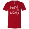 Lipstick & Whiskey - Bella & Canvas Unisex V-neck Jersey T-Shirt - 12 Colors Available Plus Size XS-3XL - MADE IN THE USA
