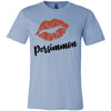 Lipstick Kiss Lips Print - Lipsense: PERSIMMON - Bella & Canvas - O-neck Unisex Short Sleeve Jersey Tee - 8 Colors Available Plus Size XS-4XL - MADE IN THE USA