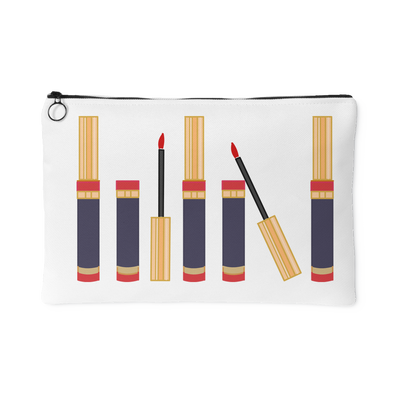 Lipsense Lip Color Tubes Lineup Travel Makeup Accessory Cosmetic Tote or Money Bag Size: Small or Large