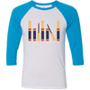 Lipsense Lip Color Tubes Lineup Unisex Three-Quarter Sleeve Baseball T-Shirt - Bella & Canvas - 14 Colors Available Plus Size XS-2XL - MADE IN THE USA