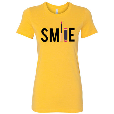 Smile - Lipsense - Bella + Canvas - Women's Short Sleeve Feminine T-shirt - 15 Colors Available Plus Size S-2XL - MADE IN THE USA