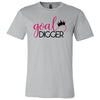 Goal Digger Crown - Bella & Canvas - O-neck Unisex Short Sleeve Jersey Tee -12 Colors Available Plus Size XS-4XL - MADE IN THE USA