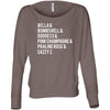 Lipsense Lip Color List - Off the Shoulder Long sleeve Flowy Feminine Wide Neck Tee - Bella Brand Shirt - 7 Colors Available Plus Size XS-2XL - MADE IN THE USA
