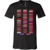 Lipsense 50 Shades Lip Color Swatches Tee - Bella & Canvas Unisex V-neck Jersey T-Shirt - 10 Colors Available Plus Size XS-3XL - MADE IN THE USA