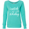 Lipstick & Whiskey - Bella + Canvas - Women's Long Sleeve Sponge Fleece Wideneck Sweatshirt 6 Colors Available Size S-2XL - MADE IN THE USA