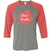 Lipsense HEARTBREAKER Lip Color Lipstick Swipe - Unisex Three-Quarter Sleeve Baseball T-Shirt - Bella & Canvas - 16 Colors Available Plus Size XS-2XL - MADE IN THE USA
