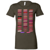 Lipsense 50 Shades Lip Color Swatches Bella + Canvas - Women's Short Sleeve Feminine T-shirt - 16 Colors Available Plus Size S-2XL - MADE IN THE USA