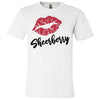 Lipstick Kiss Lips Print - Lipsense: SHEERBERRY - Bella & Canvas - O-neck Unisex Short Sleeve Jersey Tee - 8 Colors Available Plus Size XS-4XL - MADE IN THE USA
