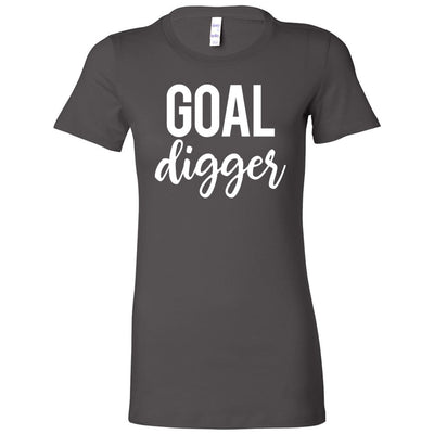 goal digger - Bella + Canvas - Women's Short Sleeve Feminine T-shirt - 16 Colors Available Plus Size S-2XL - MADE IN THE USA