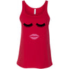 Lips & Lashes (fleur de lisa) Ladies Relaxed Jersey Tank Top Women - Bella & Canvas - 8 colors available - PLUS Size S-2XL MADE IN THE USA
