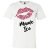 Lipstick Kiss Lips Print - Lipsense: MAUVE ICE - Bella & Canvas - O-neck Unisex Short Sleeve Jersey Tee - 8 Colors Available Plus Size XS-4XL - MADE IN THE USA