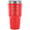 I'm not perfect but my lipstick is - 30 oz Engraved / Etched Stainless Steel Tumbler Travel Mug | Hot or Cold | 7 Colors Available