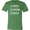 Coffee Lipstick Hustle Check - O-neck Unisex Short Sleeve Jersey Tee - 12 Colors Available Plus Size XS-4XL - MADE IN THE USA