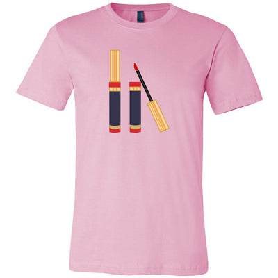 Lipsense Lip Color Tube Slanted Bella & Canvas - O-neck Unisex Short Sleeve Jersey Tee - 12 Colors Available Plus Size XS-4XL - MADE IN THE USA