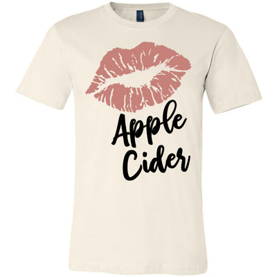 Lipstick Kiss Lips Print - Lipsense: APPLE CIDER - Bella & Canvas - O-neck Unisex Short Sleeve Jersey Tee - 7 Colors Available Plus Size XS-4XL - MADE IN THE USA