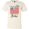 Land of the Free Home of the Babes - Patriotic USA Flag Blue Lips - Bella & Canvas - O-neck Unisex Short Sleeve Jersey Tee -12 Colors Available Plus Size XS-4XL - MADE IN THE USA