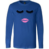 Lips & Lashes - Long Sleeve Tee Unisex Canvas Brand T-shirt - 7 colors available PLUS Size XS-2XL MADE IN THE USA