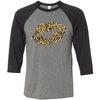 Leopard Print Lips Lipstick Print - Unisex Three-Quarter Sleeve Baseball T-Shirt - Bella & Canvas - 16 Colors Available Plus Size XS-2XL - MADE IN THE USA