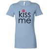Kiss Me - Red Lips Lipstick Kiss Print - Bella + Canvas - Women's Short Sleeve Feminine T-shirt - 14 Colors Available Plus Size S-2XL - MADE IN THE USA