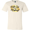 Wake up and Makeup - Gold Lips - Bella & Canvas - O-neck Unisex Short Sleeve Jersey Tee -12 Colors Available Plus Size XS-4XL - MADE IN THE USA