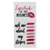 Lipstick is my Business - ask me about my stripes Beach Towel