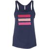 Shades of Pink Stripes - Ladies Relaxed Jersey Tank Top Women - Bella & Canvas - 7 colors available - PLUS Size S-2XL MADE IN THE USA