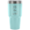 Wife-Mom-Lip Boss (arrows) 30 oz Engraved / Etched Stainless Steel Tumbler Travel Mug | Hot or Cold | 7 Colors Available