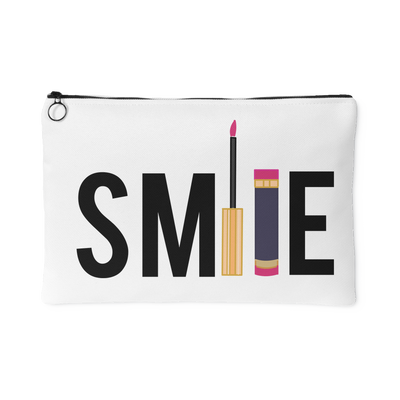 SMILE - Travel Lipsense Makeup Accessory Cosmetic Tote or Money Bag Size: Small or Large