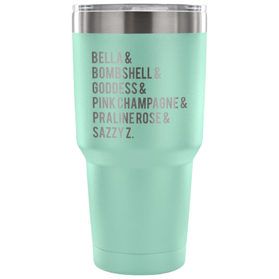 Lipsense Lip Color List - 30 oz Engraved / Etched Stainless Steel Tumbler Travel Mug | Hot or Cold | 7 Colors Available