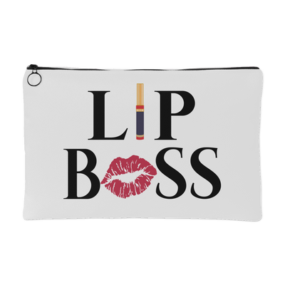 LIP BOSS Kiss Lips - Travel Lipsense Makeup Accessory Cosmetic Tote or Money Bag Size: Small or Large