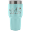 Goal Digger - 30 oz Engraved / Etched Stainless Steel Tumbler Travel Mug | Hot or Cold | 7 Colors Available