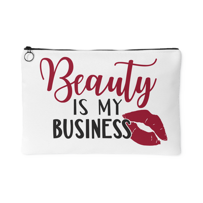 Beauty is my Business - Travel Makeup Accessory Cosmetic Tote or Money Bag Size: Small or Large
