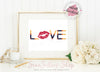 Digital Art / 8x10 / Instant Download / Printable - LOVE Lipsense Kiss