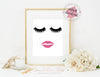 Digital Art / 8x10 / Instant Download / Printable - Lips & Lashes (Fleur de Lisa)