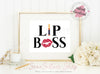 Digital Art / 8x10 / Instant Download / Printable - Lipsense LIP BOSS Lips Kiss