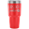 Lipstick Junkie - 30 oz Engraved / Etched Stainless Steel Tumbler Travel Mug | Hot or Cold | 7 Colors Available