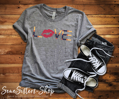 LOVE Lipsense - Bella & Canvas - O-neck Unisex Short Sleeve Jersey Tee - 12 Colors Available Plus Size XS-4XL - MADE IN THE USA