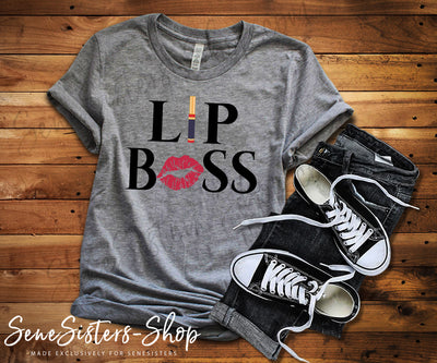 Lipsense Lip Boss Kiss Lips - Bella & Canvas - O-neck Unisex Short Sleeve Jersey Tee - 10 Colors Available Plus Size XS-4XL - MADE IN THE USA