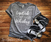 Lipstick & Whiskey - Bella & Canvas - O-neck Unisex Short Sleeve Jersey Tee - 12 Colors Available Plus Size XS-4XL - MADE IN THE USA