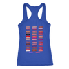 Ask me about my lips lipstick kiss print & Lipsense 50 Shades Lip Color Swatches (Front & Back) - Ladies Racerback Tank Top Women - 4 colors available - PLUS Size XS-2XL MADE IN THE USA