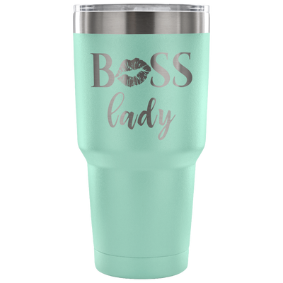 BOSS Lady - 30 oz Engraved / Etched Stainless Steel Tumbler Travel Mug | Hot or Cold | 7 Colors Available