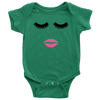 Lips & Lashes Onesie (fleur de lisa) Baby Onesie - 8 Colors AVAILABLE Size: Newborn - 24M - Infant Jersey Bodysuit - MADE IN THE USA