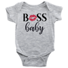Boss Baby Lipstick Kiss Lips Onesie 8 Colors AVAILABLE Size: Newborn - 24M - Infant Jersey Bodysuit - MADE IN THE USA