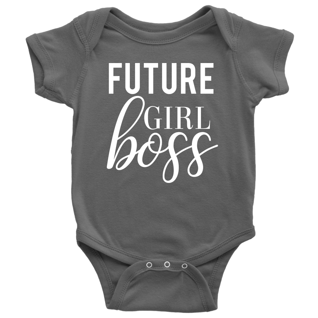 Future Girl Boss Baby Onesie 10 Colors Available Size Newborn 24m Infant Jersey Bodysuit Made In The Usa